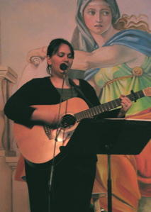 Me at a Cafe Paradiso Open Mic a few years ago...